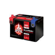 650 CRANK AMPS / 55 AMP HOURS AGM 12V Starting Battery