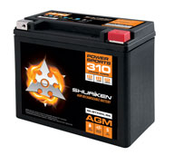 310 CRANK AMPS / 18AMP HOURS AGM Power Sports 12V Battery