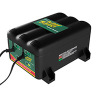 2 BANK / 2 1.25 AMP BATTERY CHARGERS 12V Battery Charging Station