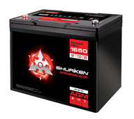 1650W / 70AMP HOURS AGM 12V Battery