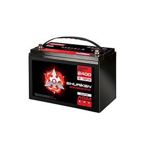 2400W / 120AMP HOURS AGM 12V Battery